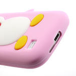 Silikon 3D TUČŇÁK pro Samsung Galaxy S4 mini i9190- světlerůžový - 4/5