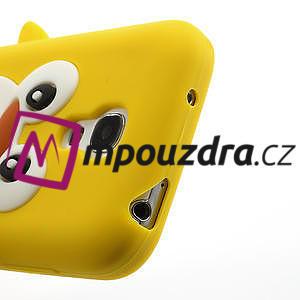 Silikon 3D TUČŇÁK pro Samsung Galaxy S4 mini i9190- žlutý - 4