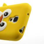 Silikon 3D TUČŇÁK pro Samsung Galaxy S4 mini i9190- žlutý - 4/5