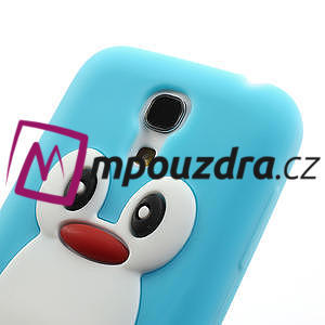 Silikon 3D TUČŇÁK pro Samsung Galaxy S4 mini i9190- světlemodrý - 4