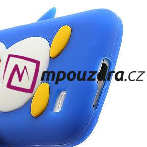 Silikon 3D TUČŇÁK pro Samsung Galaxy S4 mini i9190- modrý - 4