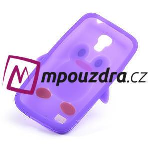Silikon 3D TUČŇÁK pro Samsung Galaxy S4 mini i9190- fialový - 4