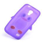 Silikon 3D TUČŇÁK pro Samsung Galaxy S4 mini i9190- fialový - 4/4