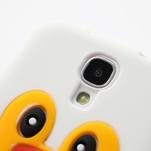 Silikonový Tučňák pouzdro pro Samsung Galaxy S4 i9500- bílý - 4/6