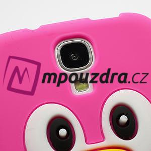 Silikonový Tučňák pouzdro pro Samsung Galaxy S4 i9500- růžový - 4