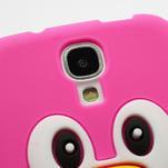 Silikonový Tučňák pouzdro pro Samsung Galaxy S4 i9500- růžový - 4/5