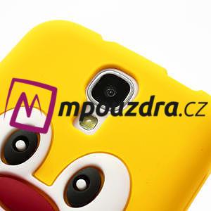 Silikonový Tučňák pouzdro pro Samsung Galaxy S4 i9500- žlutý - 4