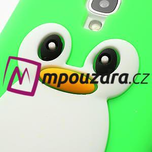 Silikonový Tučňák pouzdro pro Samsung Galaxy S4 i9500- zelený - 4