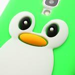 Silikonový Tučňák pouzdro pro Samsung Galaxy S4 i9500- zelený - 4/6
