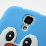 Silikonový Tučňák pouzdro pro Samsung Galaxy S4 i9500- světle-modrý - 4/7