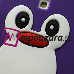 Silikonový Tučňák pouzdro pro Samsung Galaxy S4 i9500- fialový - 4