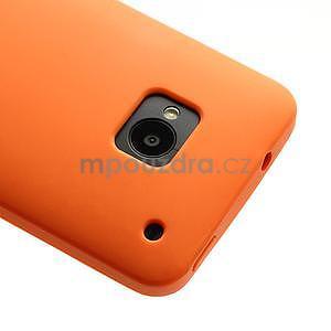 Silikonové pouzdro pro HTC one M7- oranžové - 4