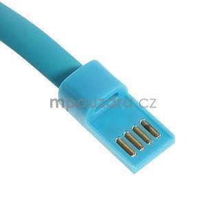 Multifunkční náramek micro USB, modrý - 4