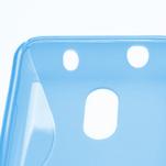 Gelové S-line pouzdro na Nokia Lumia 620- modré - 4/5