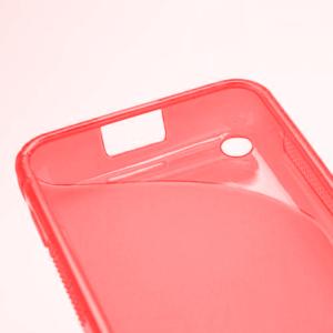 Gelové S-line pouzdro na Nokia Lumia 620- červené - 4