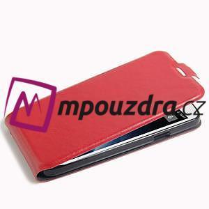 GT flipové PU kožené pouzdro na mobil Doogee X6 - červené - 4