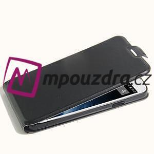 GT flipové PU kožené pouzdro na mobil Doogee X6 - černé - 4