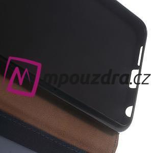 Clothy peněženkové pouzdro na mobil Honor 8 - tmavěmodré - 4