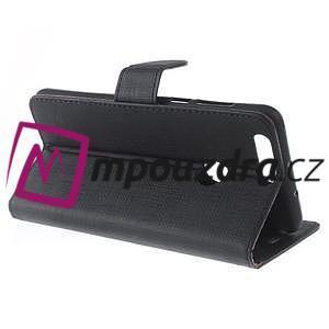 Clothy peněženkové pouzdro na mobil Honor 8 - černé - 4