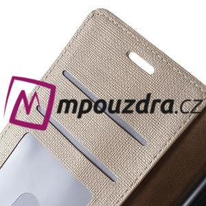 Clothy peněženkové pouzdro na mobil Honor 8 - zlaté - 4