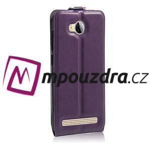 Flipové PU kožené pouzdro na Huawei Y3 II - fialové - 4