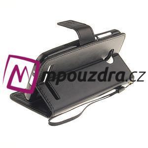 Dandelion PU kožené pouzdro na mobil Huawei Y3 II - černé - 4
