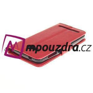 Dandelion PU kožené pouzdro na mobil Huawei Y3 II - červené - 4