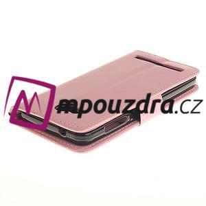 Dandelion PU kožené pouzdro na mobil Huawei Y3 II - růžové - 4