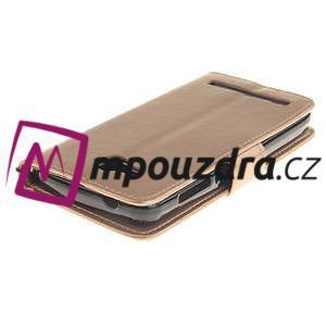 Dandelion PU kožené pouzdro na mobil Huawei Y3 II - zlaté - 4