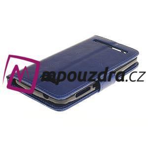 Dandelion PU kožené pouzdro na mobil Huawei Y3 II - modré - 4