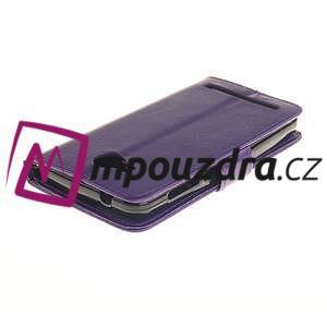 Dandelion PU kožené pouzdro na mobil Huawei Y3 II - fialové - 4