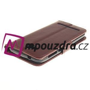 Dandelion PU kožené pouzdro na mobil Huawei Y3 II - hnědé - 4
