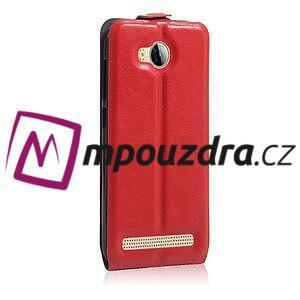 Flipové PU kožené pouzdro na Huawei Y3 II - červené - 4