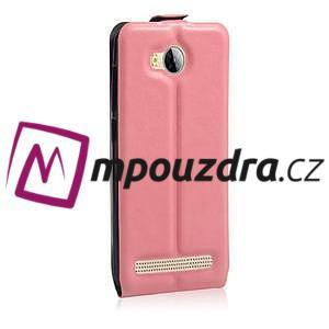 Flipové PU kožené pouzdro na Huawei Y3 II - růžové - 4