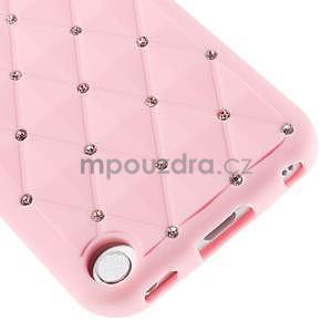 Brite silikonový obal s kamínky iPod Touch 6 / Touch 5 - růžový - 4