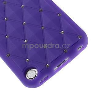 Brite silikonový obal s kamínky iPod Touch 6 / Touch 5 - fialový - 4