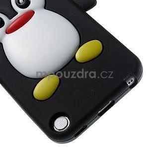 Penguin silikonový obal na iPod Touch 6 / iPod Touch 5 - černý - 4