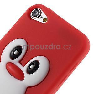 Penguin silikonový obal na iPod Touch 6 / iPod Touch 5 - červený - 4
