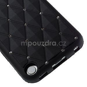 Brite silikonový obal s kamínky iPod Touch 6 / Touch 5 - černý - 4