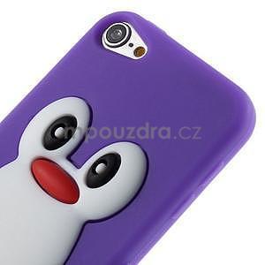 Penguin silikonový obal na iPod Touch 6 / iPod Touch 5 - fialový - 4