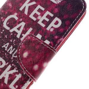 Emotive PU kožené pouzdro na LG K8 - Keep Calm - 4