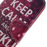 Emotive PU kožené pouzdro na LG K8 - Keep Calm - 4/7