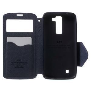 Diary PU kožené pouzdro s okýnkem na LG K8 - fialové - 4
