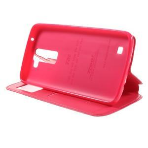 Richi PU kožené pouzdro na mobil LG K8 - rose - 4
