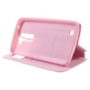 Richi PU kožené pouzdro na mobil LG K8 - růžové - 4