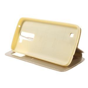 Richi PU kožené pouzdro na mobil LG K8 - zlaté - 4