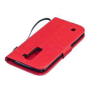 Dandelion PU kožené pouzdro na mobil LG K8 - červené - 4