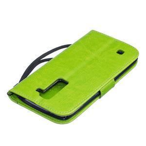 Dandelion PU kožené pouzdro na mobil LG K8 - zelené - 4
