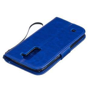 Dandelion PU kožené pouzdro na mobil LG K8 - modré - 4
