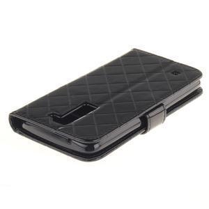 Luxusní PU kožené pouzdro s přezkou na LG K8 - černé - 4
